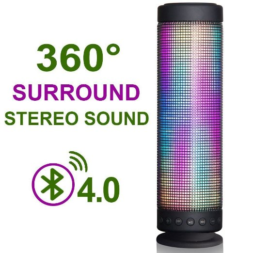 Bluetooth Outdoor Speakers With Lights