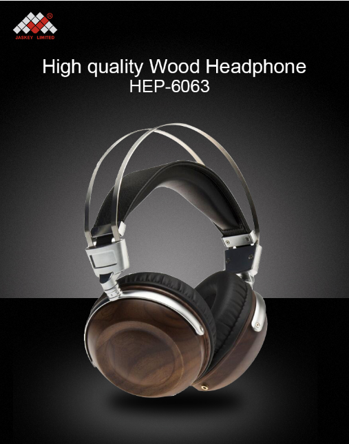 wood in ear headphones