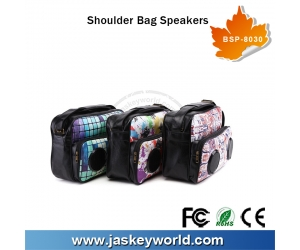 Custom Bluetooth Speaker Mini Portable Shoulder Bag Speakers Mini Loudspeaker Manufacturer BSP-8030