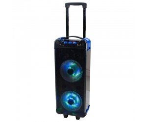 Portable pa speaker trolley dancing speakers disco light speaker KLS-0027