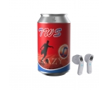 TWS  Earphone in pop-top can shape AEP-0206