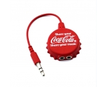 China Fashion design of beer cap shape earphone splitter can customize LOGO headsets splitter EG0004 factory