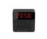 China square bluetooth speaker alarm clock fashion fabric bluetooth speaker with clock factory