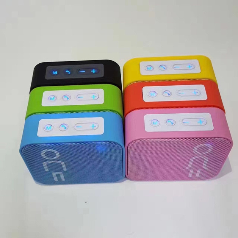 Slim cube bluetooth mini small portable speakers